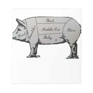 Pig Diagram Notepad