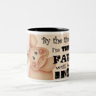 Pig Diet Design Two-Tone Mug