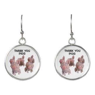 PIG EARRINGS - Natural Desiccated Thyroid