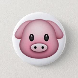 Pig Emoji 6 Cm Round Badge