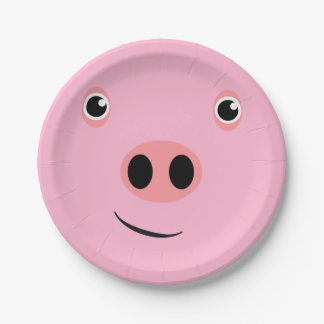 Pig Face 7 Inch Paper Plate