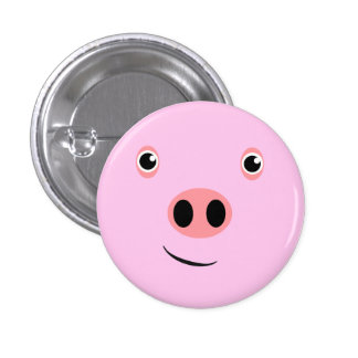 Pig Face 3 Cm Round Badge