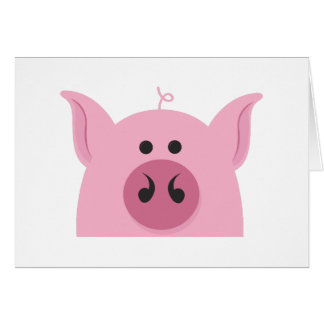 Pig Face Greeting Card