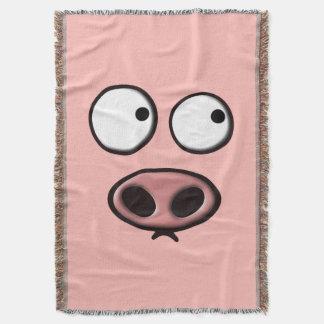 Pig Face Throw Blanket