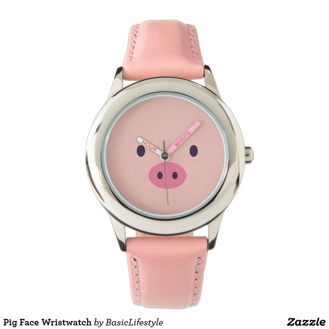 Pig Face Wristwatch
