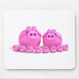 Pig family mouse pad
