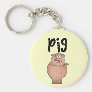 Pig Farm Animal Tshirts and Gifts Keychain