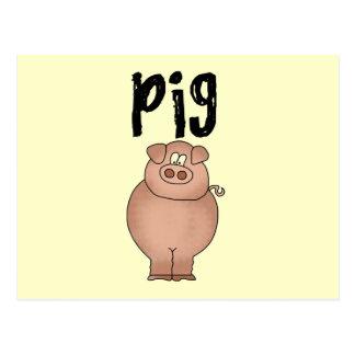 Pig Farm Animal Tshirts and Gifts Postcards