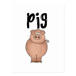 Pig Farm Animal Tshirts and Gifts Postcard