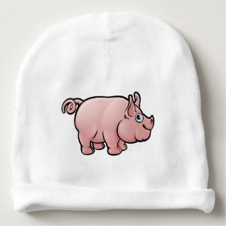Pig Farm Animals Cartoon Character Baby Beanie