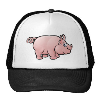 Pig Farm Animals Cartoon Character Cap