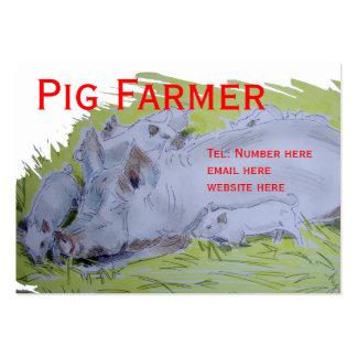 Pig Farmer Business Card Template