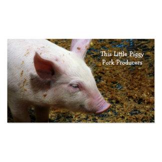 Pig Farmer - Cute Piglet Photograph Business Card Template