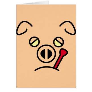 pig fever. greeting card
