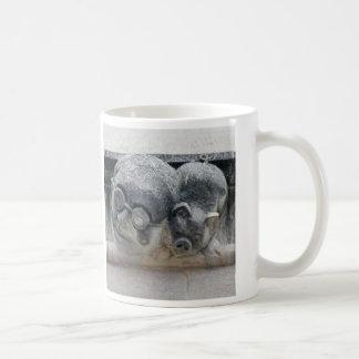 Pig gargoyle mug