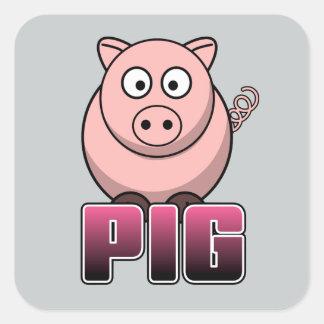 PIG Gear Square Sticker