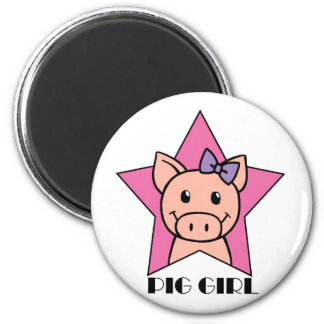 Pig Girl Magnets