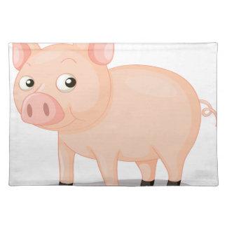 Pig illustration placemats
