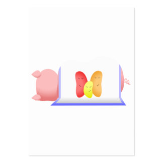 Pig In A Blue Blanket And Beans Business Cards