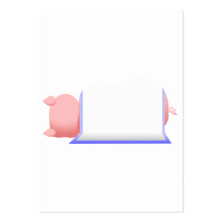 Pig In A Blue Blanket Business Card Templates