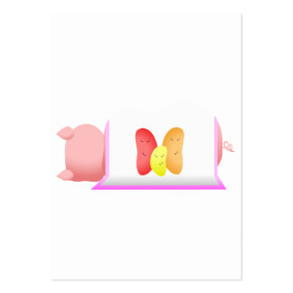 Pig In A Pink Blanket And Beans Business Card