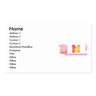 Pig In A Pink Blanket And Beans Business Card Templates
