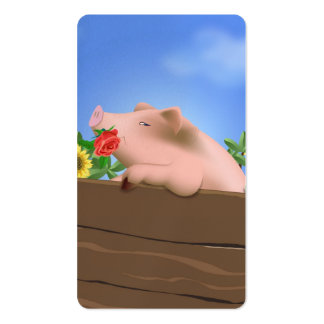 Pig in Pan Business Card Template