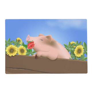 Pig in Pan Laminated Place Mat