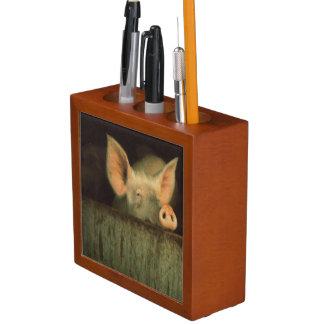 Pig in pen Pencil/Pen holder