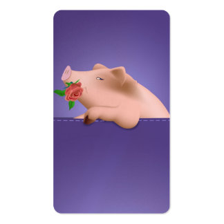 Pig in Pocket Business Card Templates
