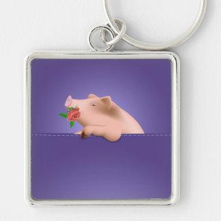 Pig in Pocket Keychain