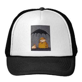 pig in the rain cap