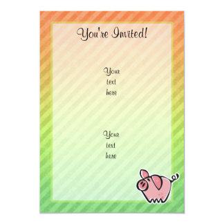 Pig 13 Cm X 18 Cm Invitation Card