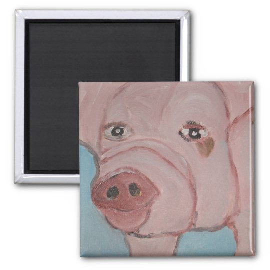 pig it square magnet