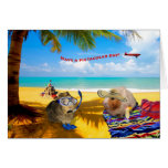 Pig Kind of Day Greeting Cards