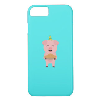 Pig King with Crown Q1Q iPhone 8/7 Case