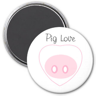 """""""Pig Love"""" Magnet with Text"""