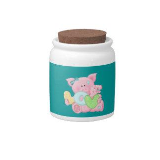 Pig Love Candy Jar