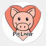 Pig Lover Classic Round Sticker