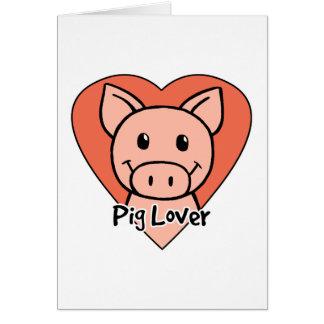 Pig Lover Greeting Card
