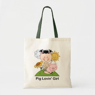 Pig Lovin' Girl Tote Bag