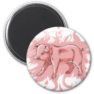 pig refrigerator magnet