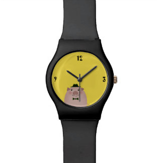 Pig Moustaches Cute Funny Gentleman Old Fashion Watch