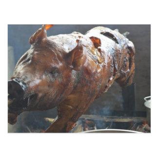 Pig on a spit Postcard