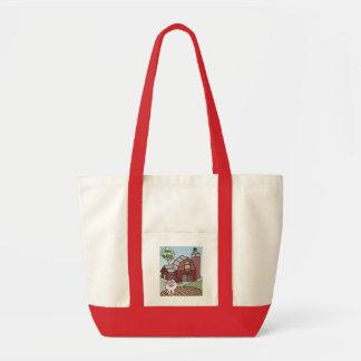 Pig on the Farm Impulse Tote Bag