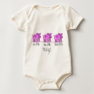 pig-one two three little... bodysuits