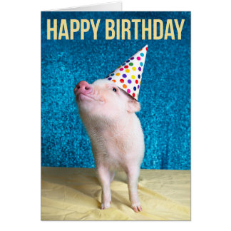 Pig Out Birthday Card