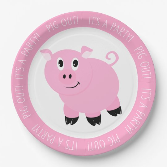 Pig Out It's A Party Cute Pink Pig