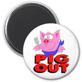 pig out refrigerator magnet