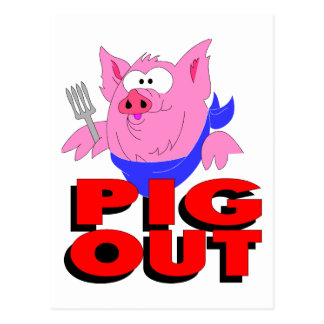 pig out post card